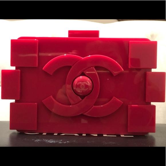 CHANEL Handbags - Chanel Lego Plexiglass Miniaudiere **Brand New**